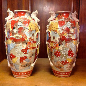Par Japanske Satsuma Vaser